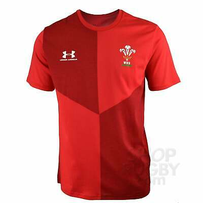 Under Armour Wales Rugby Graphic Junior T-shirt 2019-2020 - Red