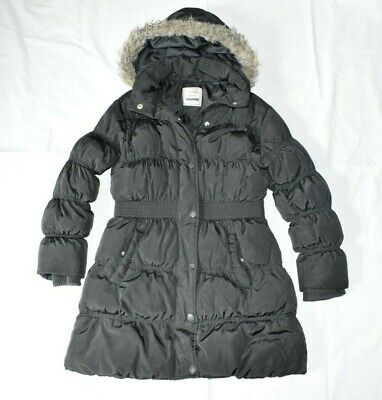 GIRL'S NEXT 9-10 Yrs (Height:140 Cm) Black Padded WARM WINTER COAT NEXT DAY POST