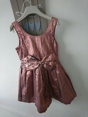 Next girl party ocassion shiny dress 8 years worn once beautiful