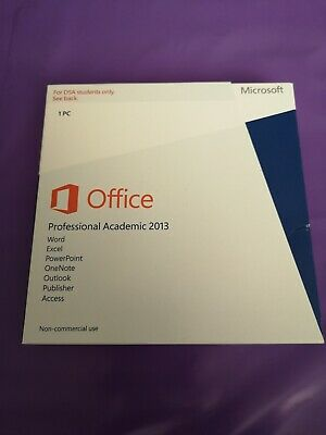 Microsoft Office 2013 Professional Academic Product Key & Cd Dsa Students Only