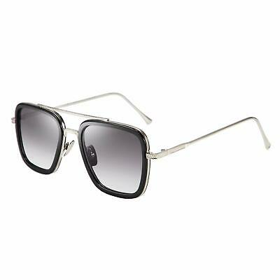 Large Square Aviator Retro Gold Hinges Driving Designer Fashion Mens Sunglasses