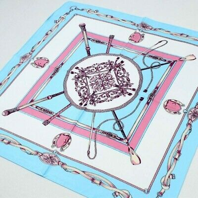 100/%silk scarf,60cmx60cm.Striking equestrian design.Free gift wrapping available
