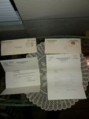 2 Letters 1 From Congress, 1 From Senate: 1936 & 40, Lewis B. Schwellenbach