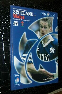 2003-Scotland V Wales-Six Nations-Rugby Union Programme And Ticket