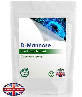 D-Mannose Tablets 750mg (120 Pack) Cystitis Relief UTI Healthy Urinary Tract, UK
