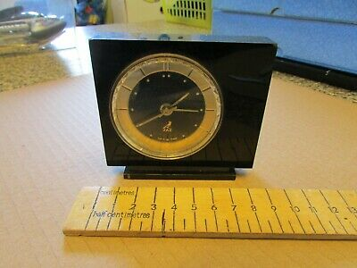 VERY NICE - VINTAGE - JAZZ - FRENCH - ALARM CLOCK - BLACK  - READ  info suplid