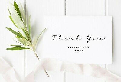 Personalised Wedding Thank You Cards and Envelopes