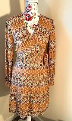 Francesca's Long Sleeve Wrap Dress Size Small NWT, Great For Fall, Day Dress
