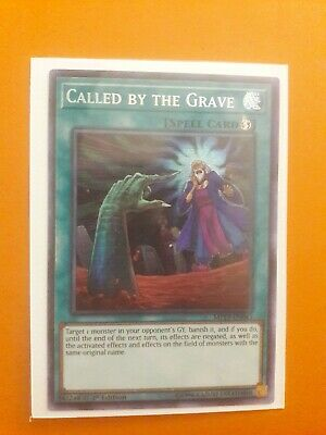 Yugioh Called By The Grave Prismatic Secret Rare MP19 1st Ed Mint