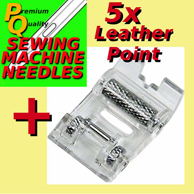 SEWING MACHINE ROLLER  FOOT PRESSER FOOT  + LEATHER POINT NEEDLES  sn/CI