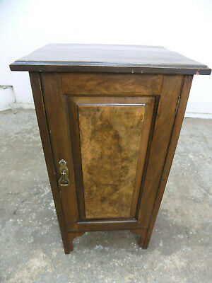 antique,victorian,walnut,pot cupboard,side table,end table,bedside,cabinet,table