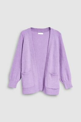 VGC Girls NEXT lilac soft long cardigan with pockets size 14 years