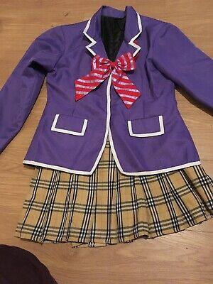 Food Wars Shokugeki no Soma Erina Nakiri Cosplay Costume JK School Uniform Small