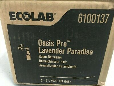 Case of 2 Ecolab 6100137 Oasis Pro Lavender Paradise Room Refresher (2L. Bags)