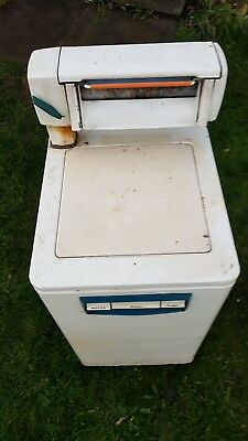 VINTAGE HOTPOINT COUNTESS WASHING MACHINE with MANGLE and original instructions