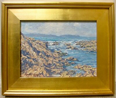 GARY RAY Listed Newport Beach Catalina CA Seascape Small Signed Ocean Painting