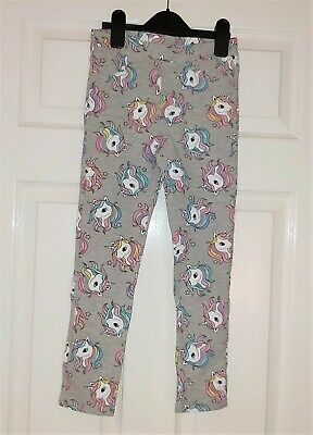 BNWT Girls H&M unicorn print treggings trousers pants size 7-8 Years