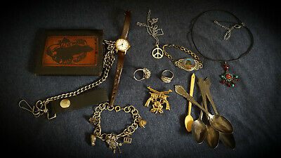 Junk Drawer Lot Jewelry, 18kt Ring, and Etc