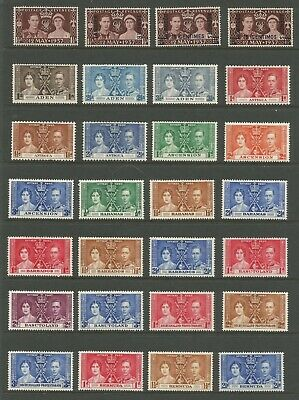 Omnibus Collection Superb Mint 1937 Coronation Issue - All Fine Fresh 202 Stamps