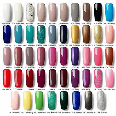 PHOERA Nail Gel Polish Soak Off UV LED Colour Manicure Base Top Coat Nail Art