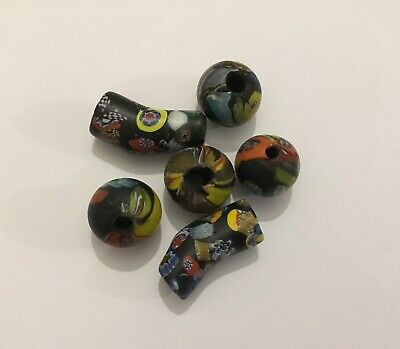 Rare ancient Phoenician glass bead group , 300 bc