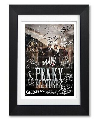Peaky Blinders Cast Signed Poster Bbc Tv Show Series Season Photo Autograph Gift