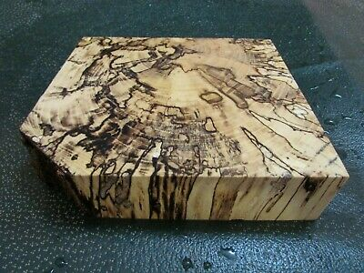 Spalted Hackberry Deluxe Knife Block/Scales/ Calls/ Pen Blanks--H--Q