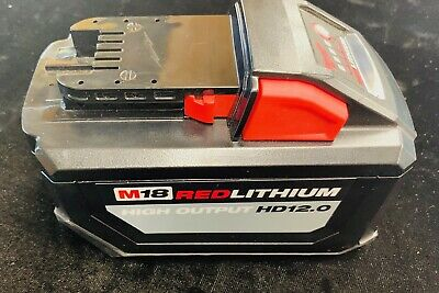 1x New Milwaukee M18 RedLithium High Output HD12.0 18V Battery - New, open box