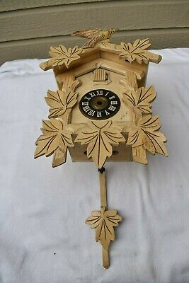 Vintage Antique Wooden Cuckoo Clock Case ONLY for Repair Refurbish Re purpose