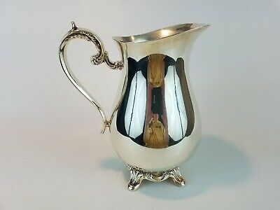 """Wm Rogers & Sons for Int'l Silver Co., Silver Plated Water Pitcher, 9.5"""" Tall"""