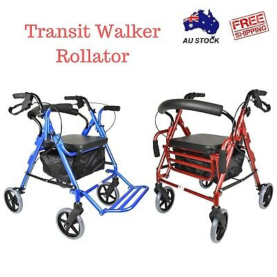 Foldable Transit Walker Rollator Walking Frame- Wheelchair Scratched Stock