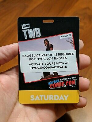 New York Comic Con Saturday Pass NYCC 2019 Javits NYC Badge Ticket SOLD OUT