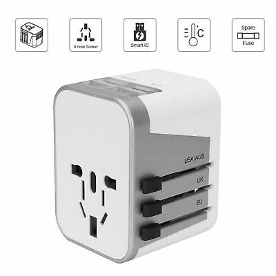 International Universal Travel Adapter 4 USB 2.4A Jollyfit Charger AC Power Wall