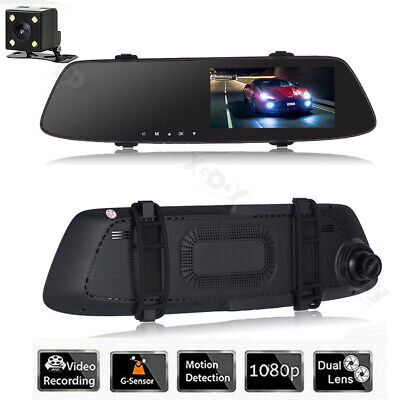 XGODY Car Dash Cam Touch Screen DVR Camera Mirror Recorder 1080P Video Rear View