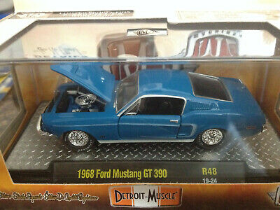 1:64 M2 Machines Detroit Muscle R46 = Turquoise 1968 Ford Mustang GT 302 NIB!