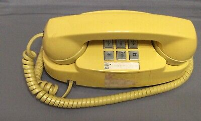 Touch Button Phone Vintage Yellow  Princess 1970s Western Electric Bell System