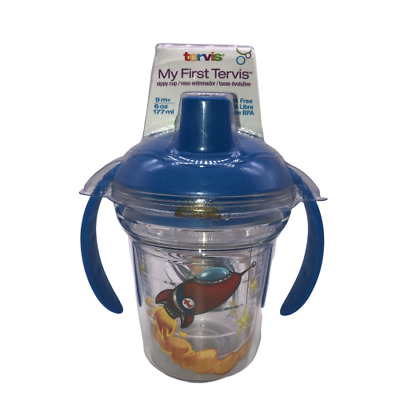 Tervis My First Tervis Sippy Cup Super Spacey w/ Wrap & Rocket Blue Lid 6oz New