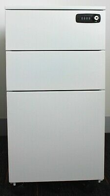 3 Drawer Lateral steel Filling Cabinet with password lock and wheels