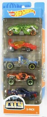 2019 Hot Wheels 5 Pack Dino City Double Demon, Dragon Blaster, So Plowed New