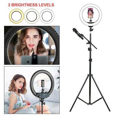 "47"" 160LED Ring Light with Stand Dimmable LED Lighting Kit Makeup Youtube Live"