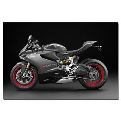 Ducati 1199 Panigale S Tricolore 30x20 Inch Canvas Art Framed Picture Print