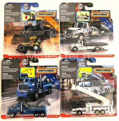 """Matchbox 1/64 Real Working Rigs 2019 """"F"""" N3242-956F Set of 4 Diecast Vehicles"""