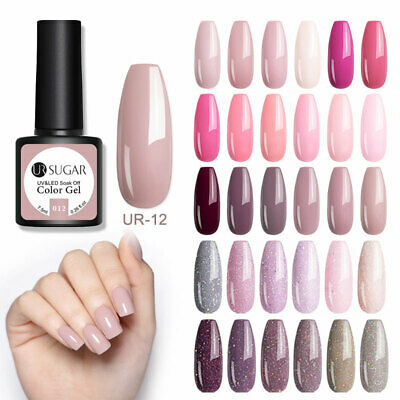 UR SUGAR Mauve Pink UV Gel Nail Polish Glitter Soak-Off Party Gel Varnish 7.5ml