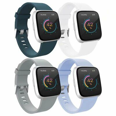 4 Pack Accessories Wrist Strap Wristband Replacement Bands For Fitbit Versa TPU