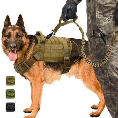 Dog Tactical Vest Military Training Harness Police Dog T-shirt for Service Dog