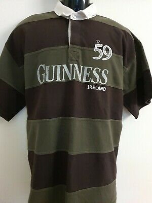GUINNESS Ireland Stout Beer Rugby Jersey Polo Shirt Mens Size XL