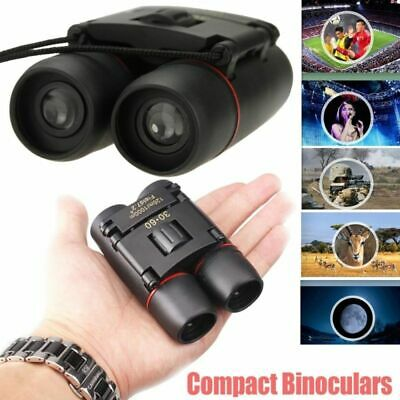 Day And Night Vision 30 x 60 ZOOM Mini Compact Foldable Binoculars Stock 2019 #