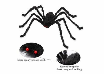 6.6 ft Giant Spider Decor Outdoor Halloween Haunted House Garden Prop Spare Eyes