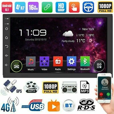 """Universal Android 8.1 Car Audio Stereo Radio 2 DIN 7"""" GPS Navi MP5 Player+Cam"""