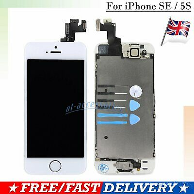 For iPhone SE 5S LCD Display Touch Screen Digitizer White Assembly Replacement